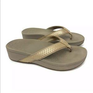 Vionic Orthaheel Studded Flip-Flop Thong Sandals 8